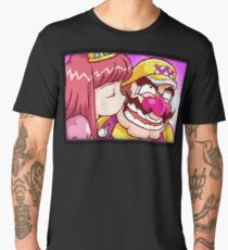Wario kissed by a Princess Men's Premium T-Shirt