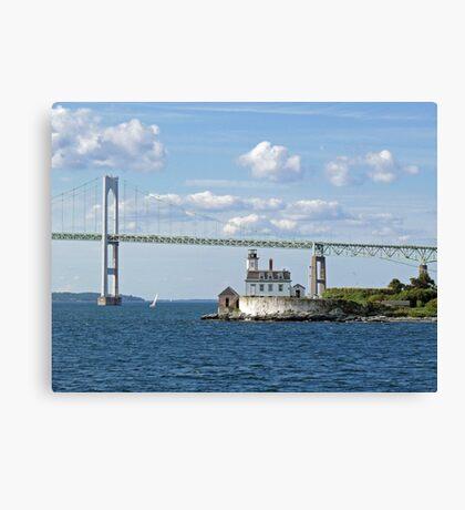 Lighthouse at Rose Island, Newport, Rhode Island | Bay series 2008 Canvas Print