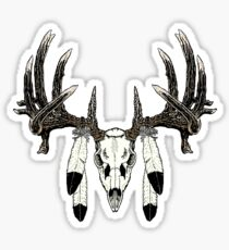 Whitetail buck eagle feathers Sticker