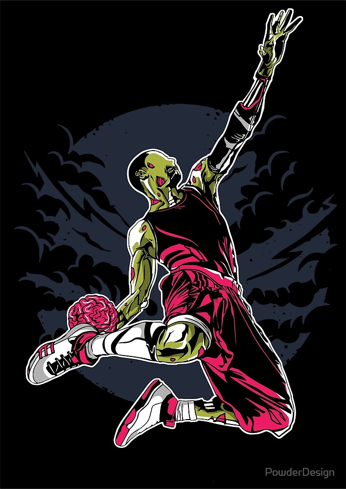 Zombie Slam Dunk by PowderDesign