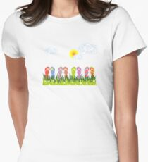 Flip Flops Having Fun in the Sun Womens Fitted T-Shirt