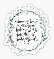 psalm 61:2 Sticker
