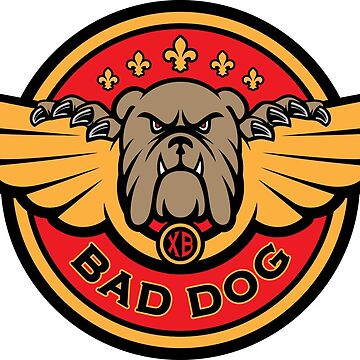 Bad Dog Winged Badge Logo by feedercreative