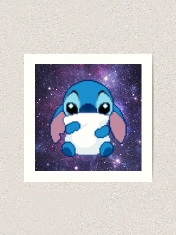Cute Pixel Stitch Art Print By Hunter Nerd Redbubble