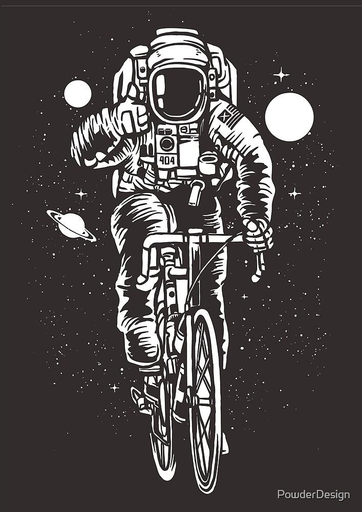Bicycling Astronaut by PowderDesign