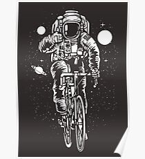 Bicycling Astronaut Poster