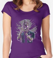 Zombie Photographer Women's Fitted Scoop T-Shirt