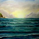 """Sunrise over the Cliffs"" - oil painting by Avril Brand"