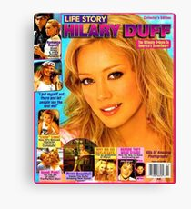 Hilary Duff LIFEstory Canvas Print