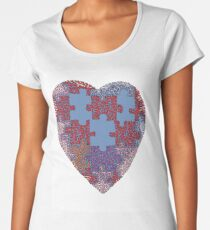My Heart Is A Puzzle Women's Premium T-Shirt