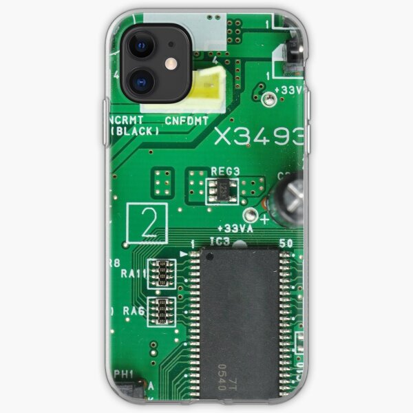 Electronic circuit board iPhone Soft Case