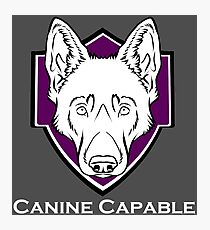 Canine Capable - LOGO Photographic Print