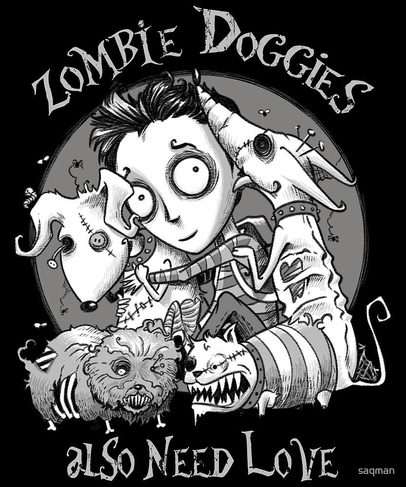 Zombie Doggies Also Need Love by saqman