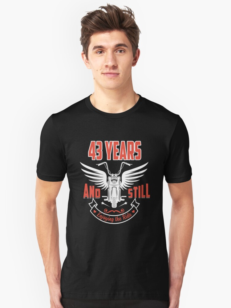 Best T-shirt For 43rd Wedding Anniversary, Fashion Anniversary Gifts For Couple Unisex T-Shirt Front