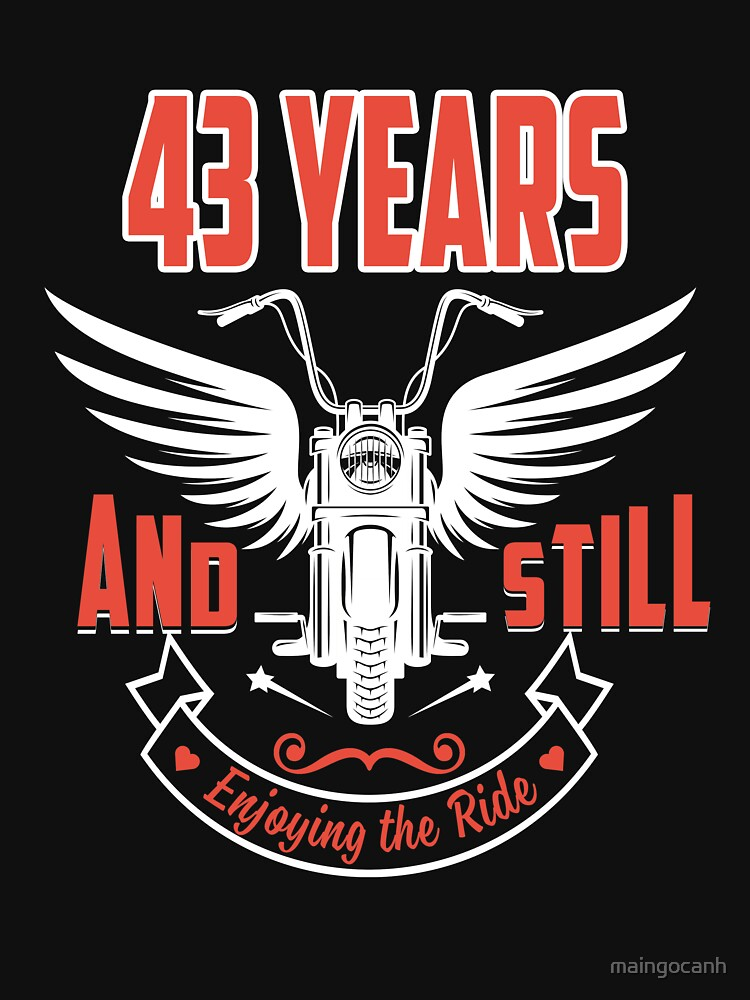 Best T-shirt For 43rd Wedding Anniversary, Fashion Anniversary Gifts For Couple by maingocanh