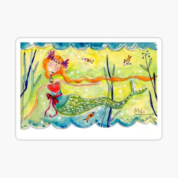 Love Mermaid Sticker