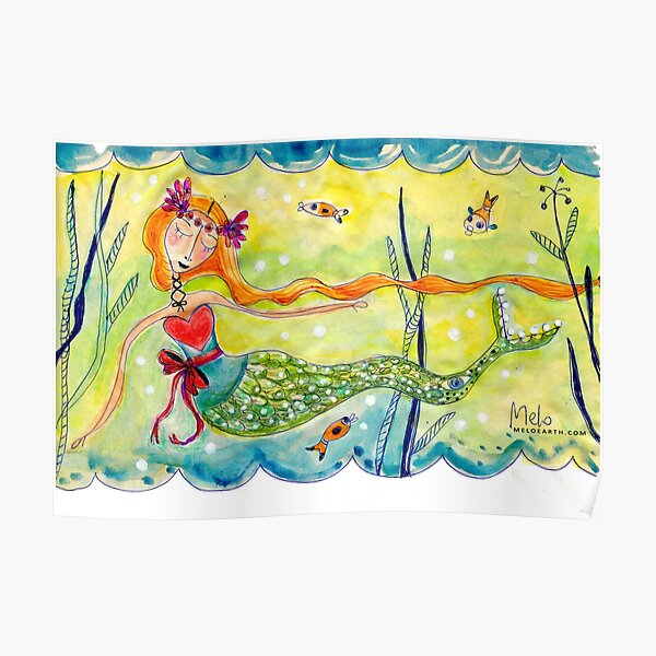 Love Mermaid Poster