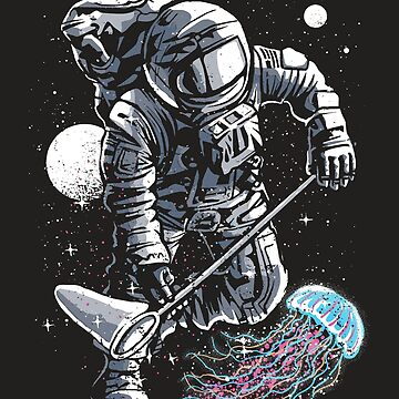 Astronaut and Jellyfish by PowderDesign
