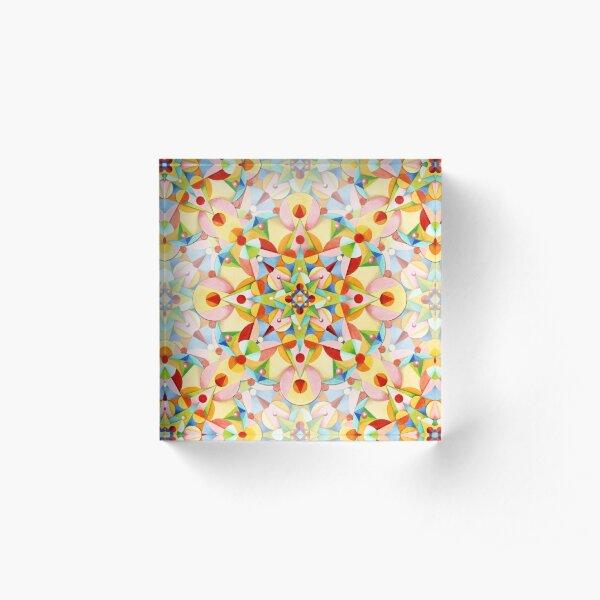 Pastel Carousel Acrylic Block