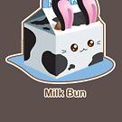 Punny Buns: Cute Milk Bunny Bun by kimchikawaii