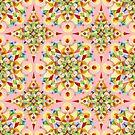 Pink Carousel Mandala by PatriciaSheaArt