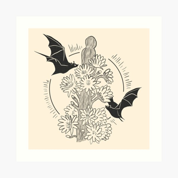Night Bloom - Bat Art Print