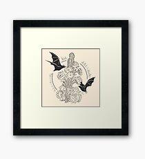 Night Bloom - Bat Framed Print