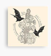 Night Bloom - Bat Canvas Print