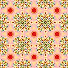 Groovy Carousel Mandala by PatriciaSheaArt