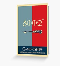 Game of Snips - 8002…  Greeting Card