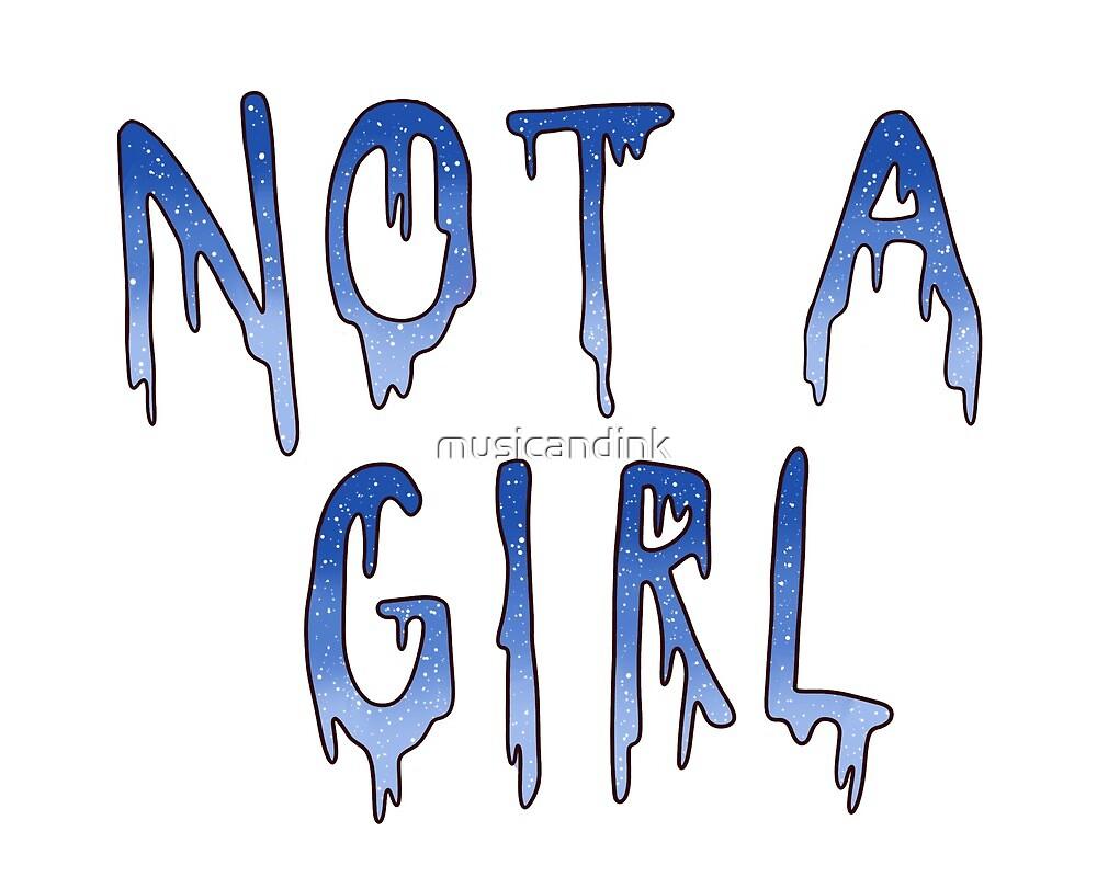 not a girl grunge - blue by musicandink