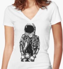 Astro Punk Women's Fitted V-Neck T-Shirt