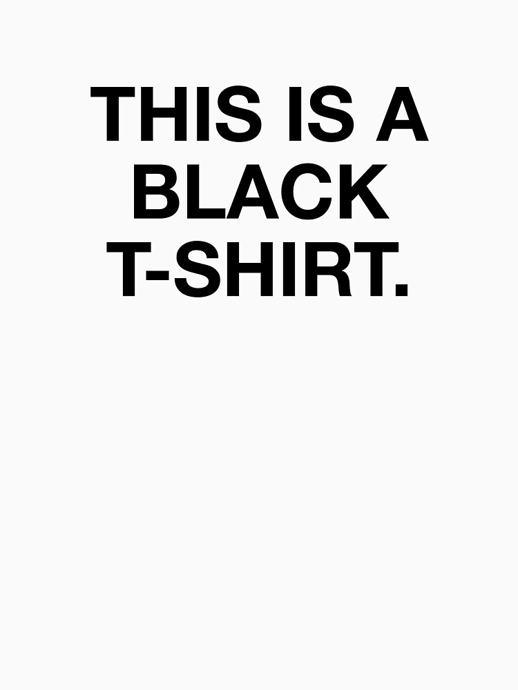 This is a black t-shirt. by aaronyih