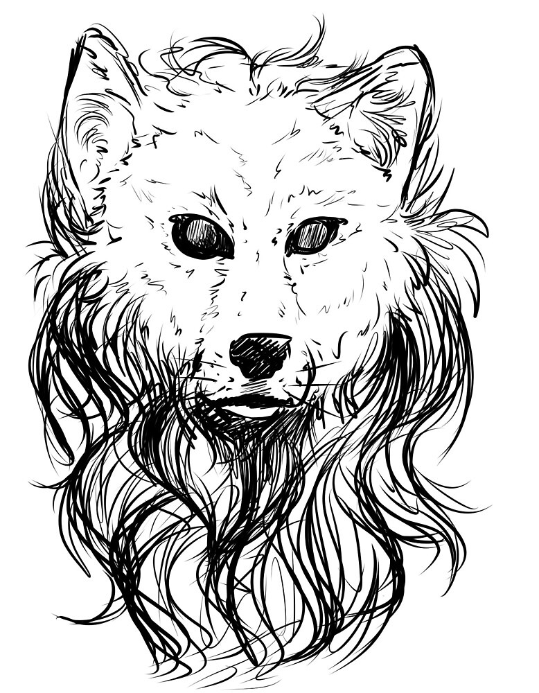 Long Haired Wolf by Iainne