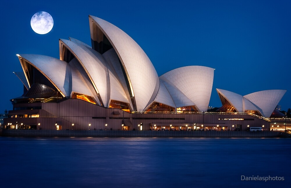 Supermoon at Sydney Opera House by Danielasphotos