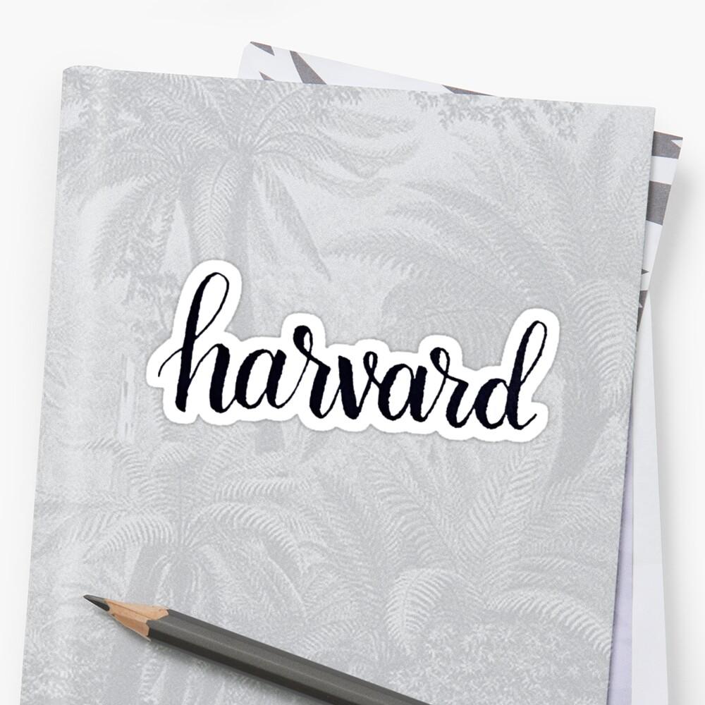 Harvard by the-bangs