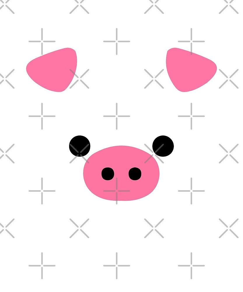 Cute Pig Face Funny Animal Lover Halloween Costume by JapaneseInkArt