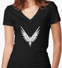 maverick logang collection Women's Fitted V-Neck T-Shirt