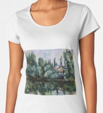 Paul Cézanne - On the Banks of the Marne (1888) Women's Premium T-Shirt