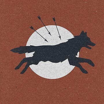 Wolf & Arrow by ZekeTucker