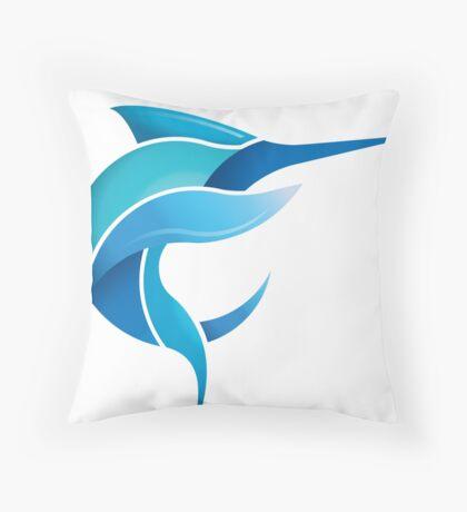 Black Marlin Blog - Full colour logo Throw Pillow
