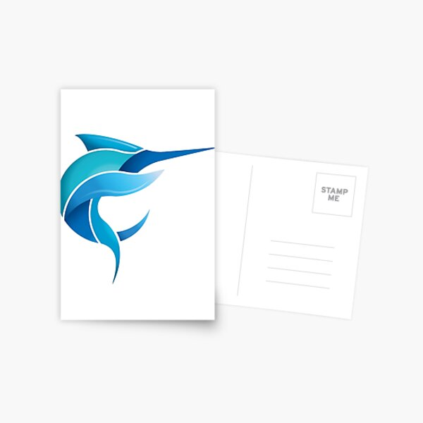 Black Marlin Blog - Full colour logo Postcard
