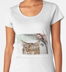 Cat bath Women's Premium T-Shirt