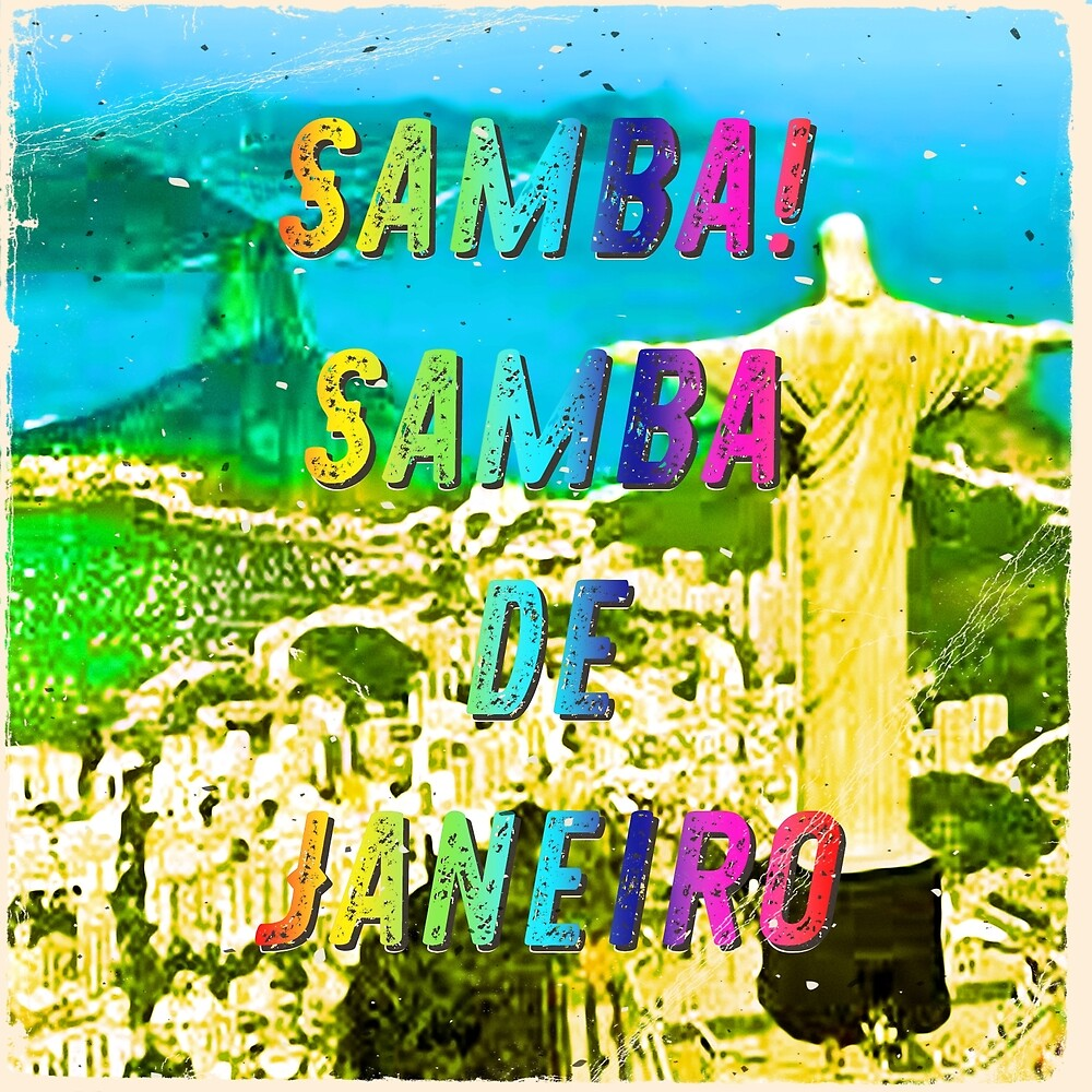 Samba de Janeiro – Square - A Hell Songbook Edition - Paralympic Games Rio de Janeiro - Brazil by Hell-Prints