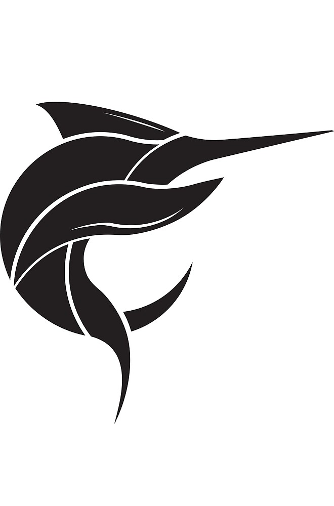 Black Marlin Blog Logo - Black on White by blackmarlinblog