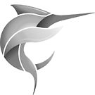 Black Marlin Blog Logo - Grey on White/Black by blackmarlinblog
