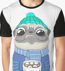 Pug with coffee Graphic T-Shirt