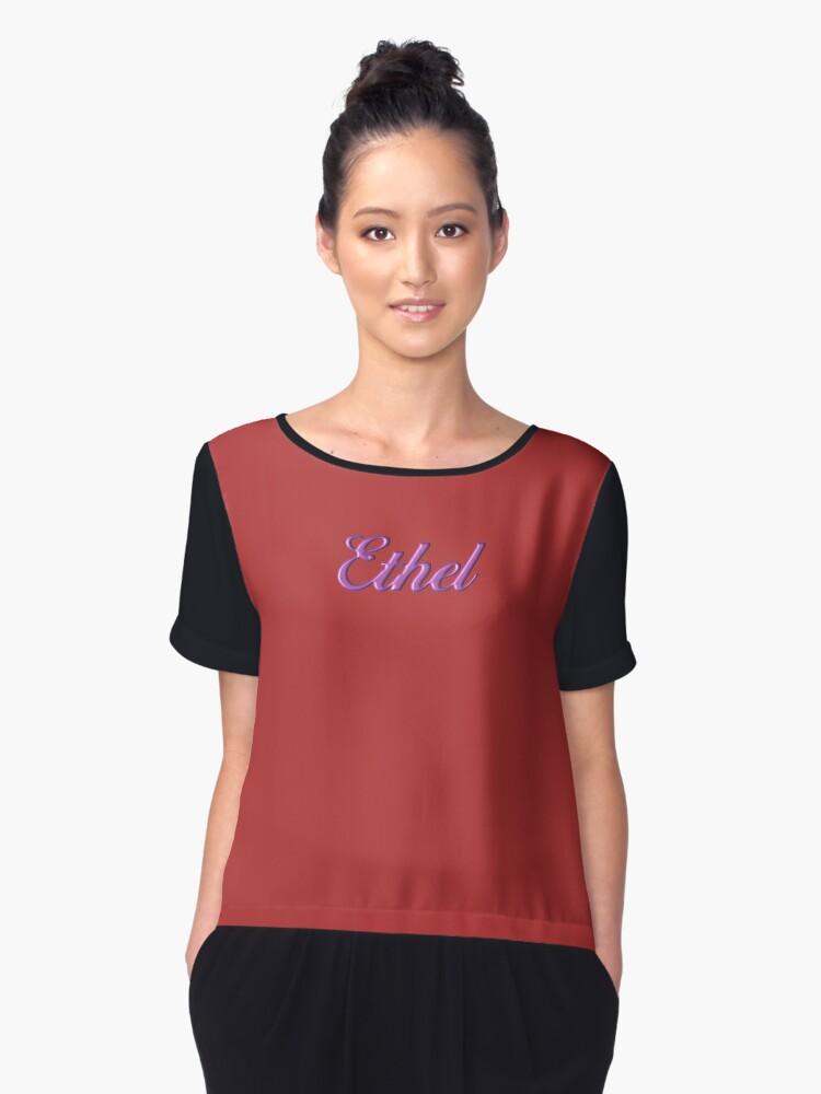 Ethel Women's Chiffon Top Front