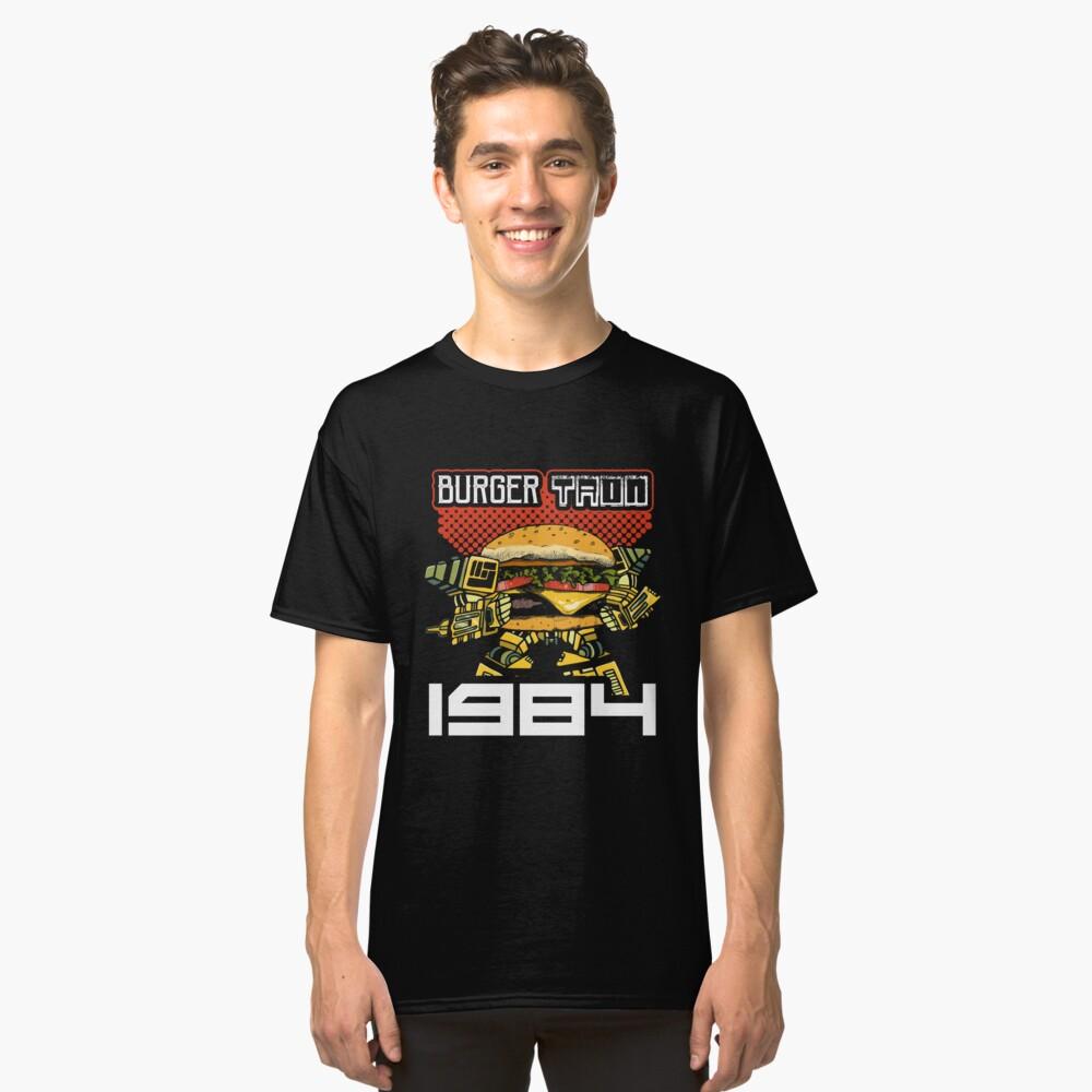 Burger Tron 1984 T-Shirt Funny Saying Tee Classic T-Shirt Front
