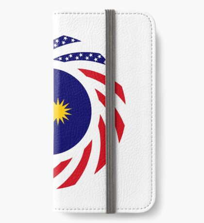 Malaysian American Multinational Patriot Flag Series iPhone Wallet